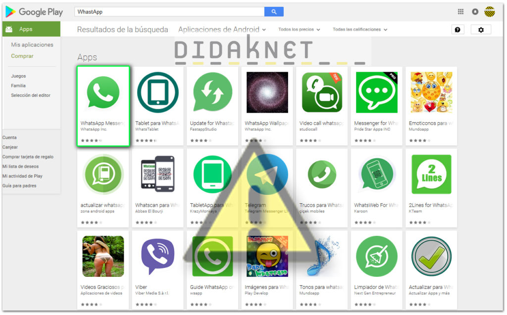 didaknet Apps dudosas en Google Play