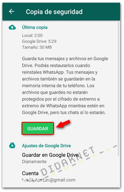 didaknet Copia de seguridad de WhatsApp